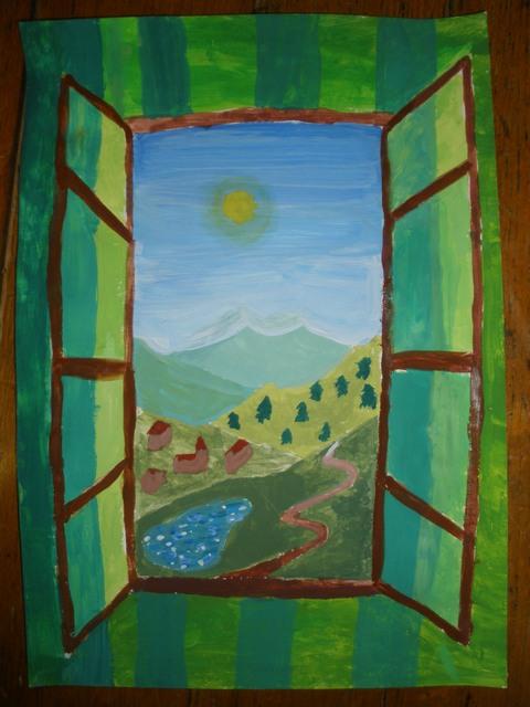 L 39 atelier de peinture cm1 cm2 2008 2009 charles p guy for Peinture sur fenetre